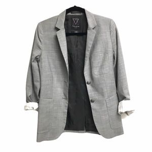 ARITZIA Exeter Boyfriend Blazer Grey Roll Sleeves